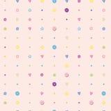 De zoete kleurrijke naadloze vector van het suikersuikergoed Stock Foto's