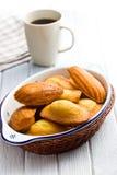 De zoete koekjes van Madeleine royalty-vrije stock afbeeldingen