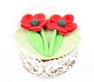 De zoete muffin van de de lentebloem Stock Afbeelding