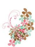 De zoete roze werveling van de pastelkleurklaver Stock Foto