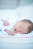 De zoete Slaap van het Babymeisje Stock Fotografie