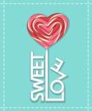 De zoete stok van het liefdesuikergoed Stock Afbeeldingen