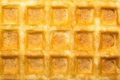 De zoete textuur van toost Belgische wafels Royalty-vrije Stock Foto