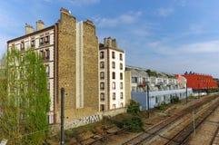 De zolderruimte van de kunstenaar in oude fabriek Royalty-vrije Stock Foto