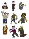 De zombieënpictogram van het beeldverhaal Stock Fotografie