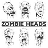 De zombie leidt vectorillustraties Royalty-vrije Stock Afbeeldingen