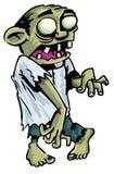 De zombie van het beeldverhaal met blootgestelde hersenen. Stock Afbeeldingen