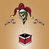 De Zombieschedel van de Kerstmisjoker Royalty-vrije Stock Fotografie
