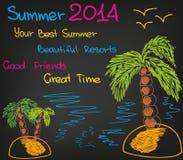 De zomer stock illustratie