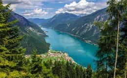 De zomer Achensee Tirol, Oostenrijk stock foto's