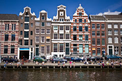 De zomer in Amsterdam stock foto's