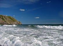 De zomer bij de oceaan Stock Foto's
