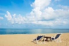 De zomer bij het strand Stock Afbeelding