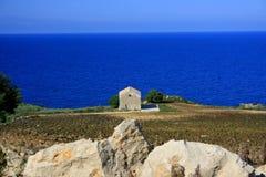 De zomer Blauwe Mediterraneo Stock Foto's