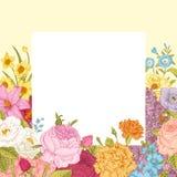 De zomer bloemen uitstekende vectorachtergrond Stock Fotografie