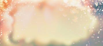 De zomer bokeh achtergrond in pastelkleur royalty-vrije stock afbeeldingen