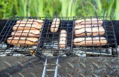 De zomer buiten barbecue Royalty-vrije Stock Afbeelding