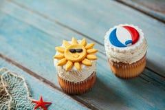 De zomer Cupcakes Royalty-vrije Stock Foto