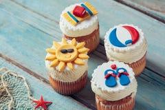 De zomer Cupcakes Royalty-vrije Stock Afbeeldingen