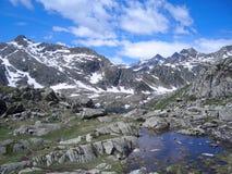 De zomer in de Alpen Royalty-vrije Stock Foto's