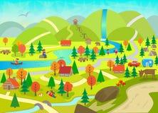 De zomer in de bergen Royalty-vrije Stock Afbeelding