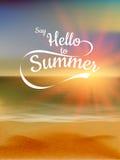 De zomer defocused zonsondergangachtergrond Eps 10 Royalty-vrije Stock Afbeelding