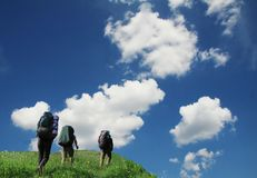De zomer die in de Krim wandelt Stock Afbeeldingen