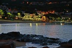 De zomer door het overzees, Llafranc, Catalonië, Spanje Stock Afbeeldingen