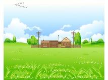 De zomer in dorp. Royalty-vrije Stock Afbeeldingen