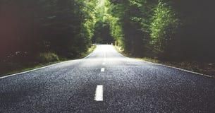 De Zomer een landweg stock afbeelding