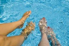 De zomer in een pool Royalty-vrije Stock Fotografie