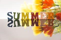 De zomer en bloemen Stock Afbeelding