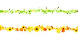 De zomer en de herfst Stock Afbeeldingen