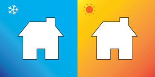 De zomer en de winter vector illustratie