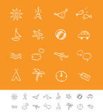 De zomer en reis iconset vector illustratie