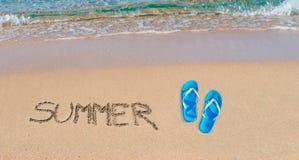 De zomer en sandals royalty-vrije stock afbeeldingen