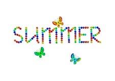 De zomer en vlinders Stock Foto's
