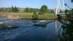 De zomer in Exeter door de rivier Royalty-vrije Stock Foto
