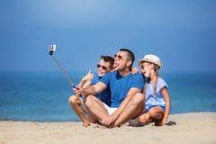 De zomer, familie, vakantieconcept Royalty-vrije Stock Afbeelding
