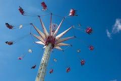 De zomer funfair in de Tuileries-Tuinen, in het centrum van Pari royalty-vrije stock foto