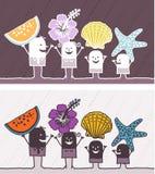 De zomer gekleurd beeldverhaal Stock Foto's