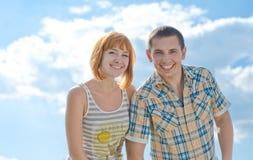 De zomer heldere glimlach Stock Foto