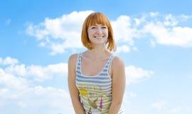 De zomer heldere glimlach Stock Foto's