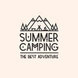 De zomer het kamperen kaart Royalty-vrije Stock Foto