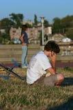De zomer in het park Stock Foto's