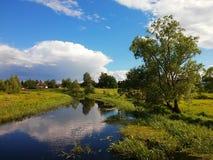 De zomer in het platteland Stock Afbeelding
