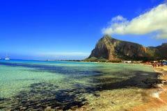 De zomer, het strand Capo van San Vito lo - Sicilië Stock Foto