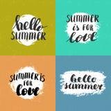 De zomer het van letters voorzien citaten Stock Fotografie