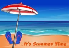 De zomer het van letters voorzien Het de zomertijd van ` s Stock Foto's