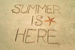 De zomer is hier Royalty-vrije Stock Fotografie